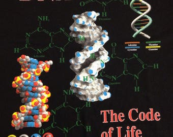 Vintage 1995 DNA The Code Of Life Science tee t-shirt size XL