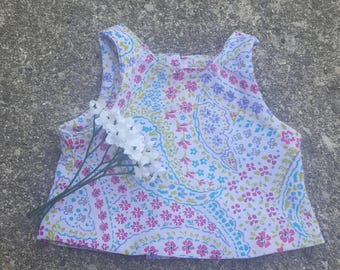 American girl doll bright floral tank top