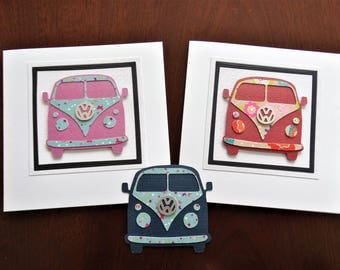 Handmade Greeting Cards - Selection of Classic Volkswagen Camper Vans - Ideal for a Birthday, Anniversary or any other Special Occasion Card