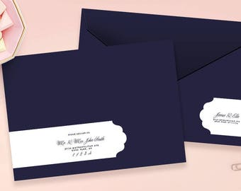 wedding address labels wrap around labels address labels envelope wrap address sticker - Wedding Invitation Labels