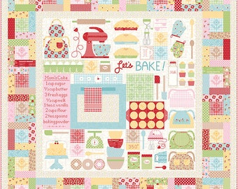 Special Listing for Kelly...Let's Bake Quilt Kit by Lori Holt of Bee In My Bonnet for Riley Blake - Let's Bake Sew Along - Bake Sale 2