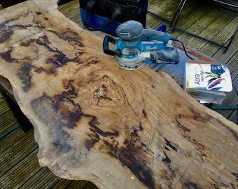Solid oak coffee table waney edge