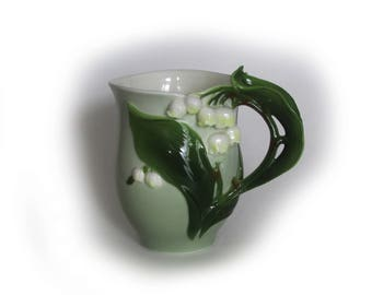 Vintage  Lily Of The Valley Porcelain Cup