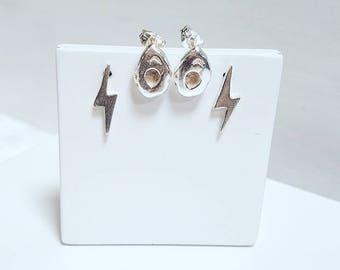 Avocado earrings, avocado studs, silver studs, avocado jewellery
