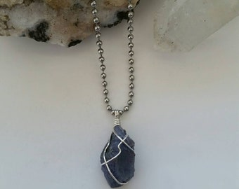Magic - Tanzanite Necklace, Crystal Healing, Sterling Silver Jewelry, Wire Wrapped Pendant, Tanzanite Pendant, Metaphysical, Harmony, Peace