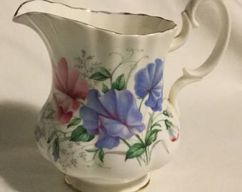 Vintage Royal Albert Sweet Pea Floral Creamer