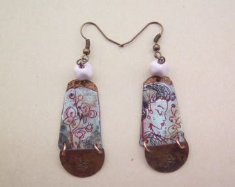 earrings enamelled charm