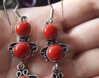 Red Coral Earrings !