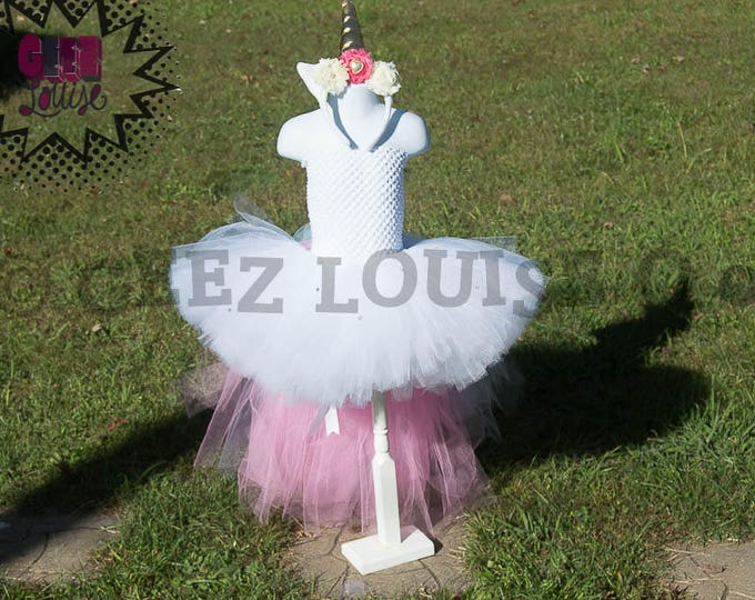 Unicorn inspired Costume Tutu Girl Skirt Boutique Bows Clothing Baby Toddler pastel Outfit