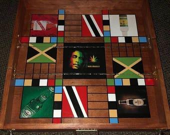 Travel Jamaican Ludi (Ludo) Game Board