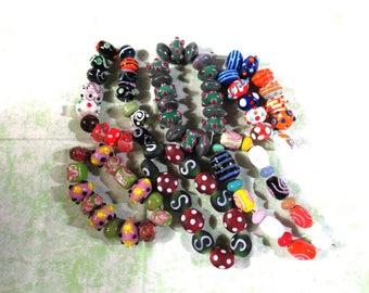 1 Handmade Lampwork Glass Bead Set (B416c)
