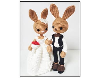 amigurumi pattern wedding bunny
