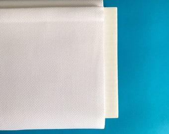 White aida fabric, zweigart, 14 count aida, cross stitch fabric, embroidery fabric, white, 100% cotton aida, premium cross stitch supply