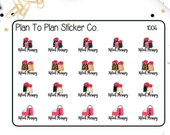 1006~~Retail Therapy Shopping Planner Stickers.