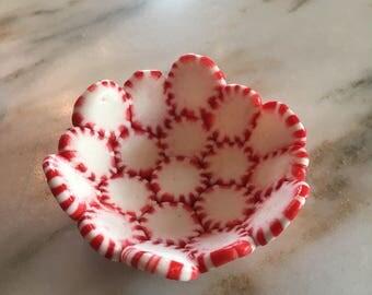 Christmas Decor Peppermint Bowl / Candy Holder