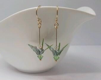 Origami Crane Earrings - Yukka