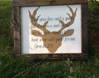 Genesis 23:7 framed bible verse hand painted sign