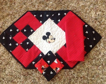 Mickey Mouse Placemat with Coaster and Napkin