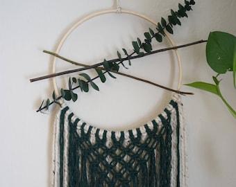 "Euculyptus Macrame Dreamcatcher - 10"" hoop"