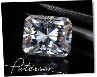 Radiant Moissanite Radiant Cut New F1 Colorless DEF Color Clear Moissanites with certificate Cheap