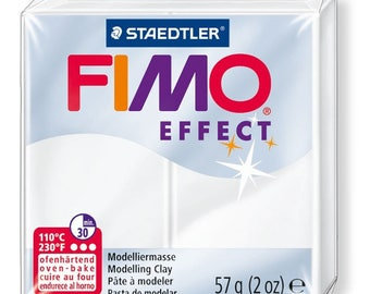 1 roll 56g polymer FIMO translucent EFFECT white 8020-014, diy