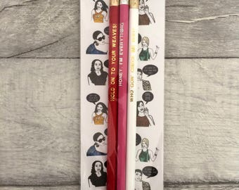 Real Housewives of Atlanta inspired pencil set- Reality tv fan stocking filler