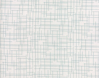 "Moda ""Modern Background Colorbox"" by Zen Chic ~ GRID ~ Fog Teal ~ 1648 17 ~ By The Half Yard ~"