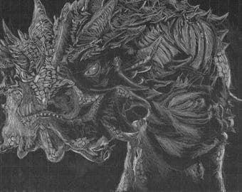 Black Paper Smaug [PRINT]