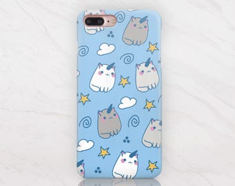 Cat Unicorn Case Funny iPhone 6S Plus Case Pattern iPhone 7 Plus Case Cute Phone Case iPhone 7 Case to Samsung Galaxy S6 Edge Case RD1504