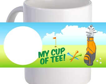 "Beautiful ""My Cup of Tea"" Personalized 11 oz Coffee Mug"