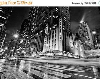 ON SALE Radio City Music Hall - New York City - Black and White - Photography - Art - Print - Photo - NYC - Music - Skyline - Cityscape - Ma