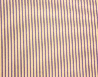 Small Striped Fabric, Stripes, Light Purple, Purple, Cotton Fabric, Craft Fabric, Quilting, Crafting, Craft Supplies, Extra Wide, Half Metre