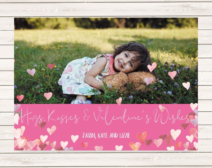 Featured listing image: Valentine's Day photo cards, Photo valentines cards, Photo cards, Printed Valentines Day cards, kids valentines, kids valentines photo cards