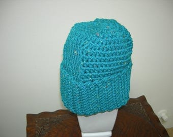Turquoise Adult/Teen Hat Beanie, Winter Gift, Christmas Gift