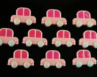 3 CABOCHONS 21x17MM car APPLIQUE