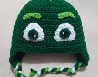 PJ Masks inspired Gekko crocheted hat