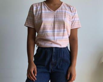 Vintage sz S/M pastel shirt