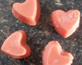 Heart solid sugar scrub