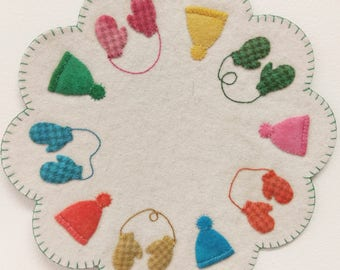 Hand-dyed Wool Winter Essentials Mat KIT
