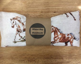 Wheat bag country horse fabric