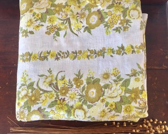 Vintage retro flannelette flat sheet