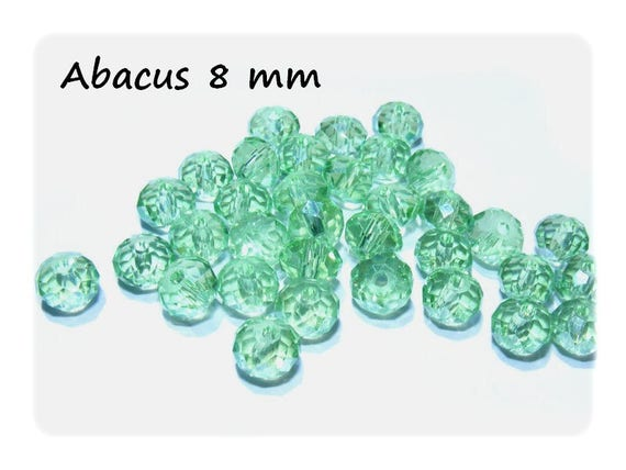 Pearl Bohemian crystal ஸ shape Abacus faceted 8 mm Chrysolite x 10 color ஸ