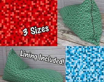 Bean Bag Chair or Lounger - Choose Your Size and Pattern - Lining Included
