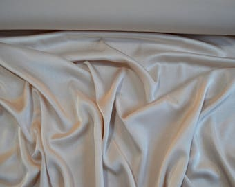 SWATCH Satin Faille Fabric Light Champagne - By the metre or half metre - Wedding Dress, Bridal, Bridesmaid - Sample Swatch