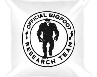 Official Bigfoot Research Team Wild Hunting Outdoor Sasquatch Yeti Chupacabra Bigfoot Pillow