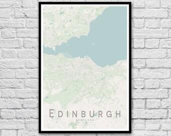 EDINBURGH, Scotland City Street Map Print | Travel Wall Art Poster | Travel Nursery Print | Unique Wedding Gift | Wall decor | A3 A2