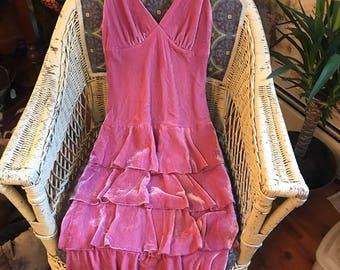Pink Velvet Dress By Shelli Segal Size 4