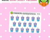 MINI SHEET TUESDAY - Mermaid Iced Drinks - Mermay Iced Tea - Planner Stickers (F0176)