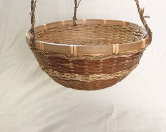 Hanging Rattan Basket Planter