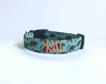 Dog Collar, Dog Collar personalized, Embroidered Dog Collar, Personalized Dog Collar, Dog Collar, embroidered dog Collar